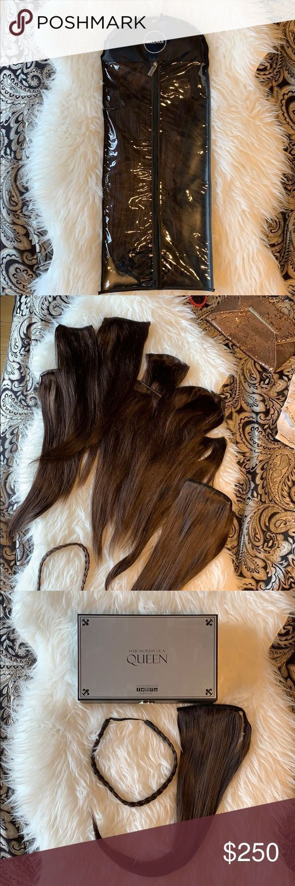 Bellami Hair Extensions Khalessi Dark brown 7 weft clip in hair extensions 280