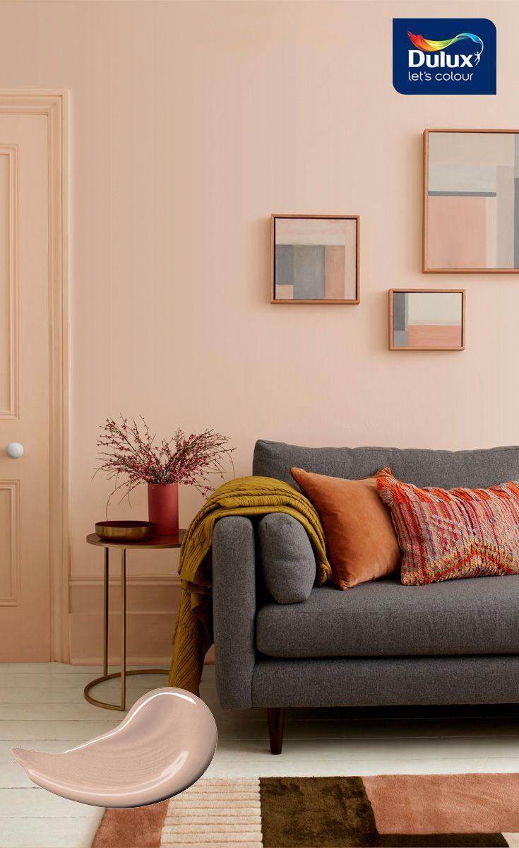 Need A New Living Room Colour Scheme This Subtle Blush Tone Adds
