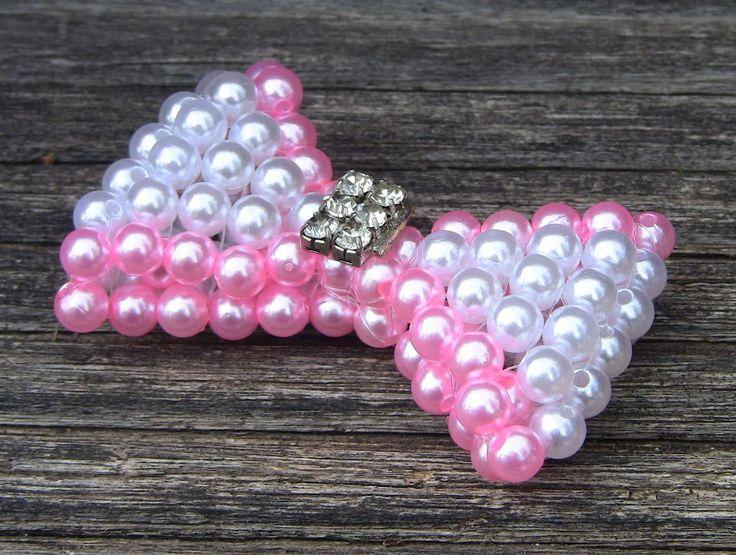 1°PARTE -Laço em Perolas com duas cores Passo a Passo - loop beads