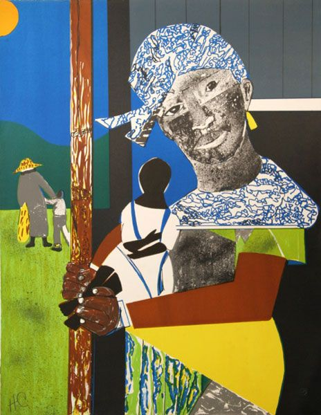 """""""Come Sunday"""" by Romare Bearden"""