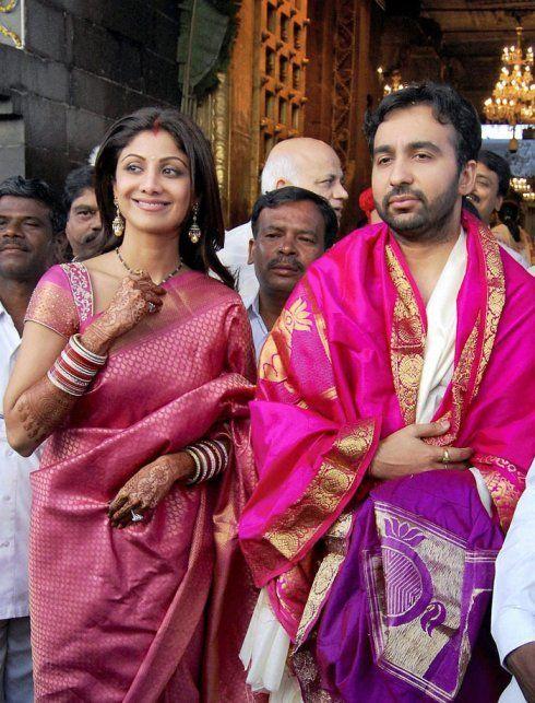 Shilpa Shetty silk saree