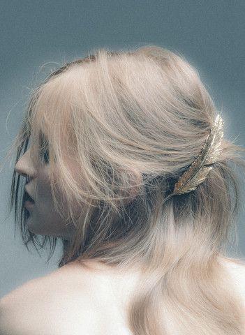 PLUIE - PLUIE FEATHER Barretta プリュイ フェザーバレッタ - hair jewelry | Couture Hair Accessories