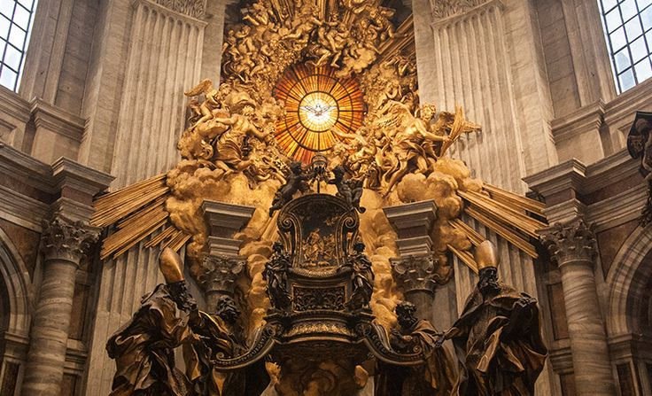 Chair of Saint Peter   photo, Lawrence OP, flickr.