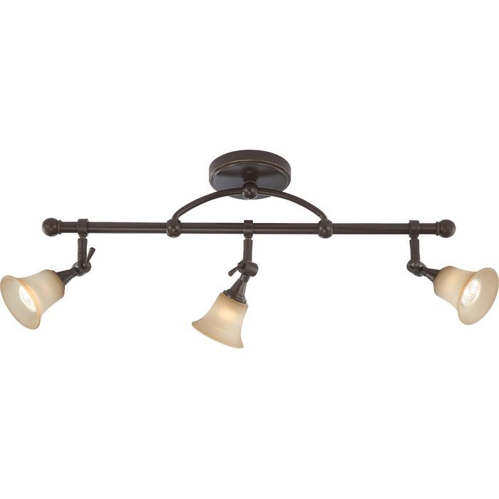 Semi Flushed Mount, 3 lights, brushed nickel