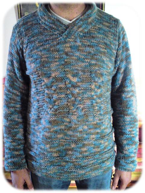 Camisola de homem lã winter da Miltons. Modelo criado por mim.