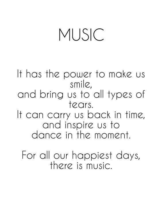 Music has the power to bring people together, it can release many emotions and tell a story. Music is an amazing thing and I don't know what I'd do without it!