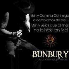 bunbury con letras