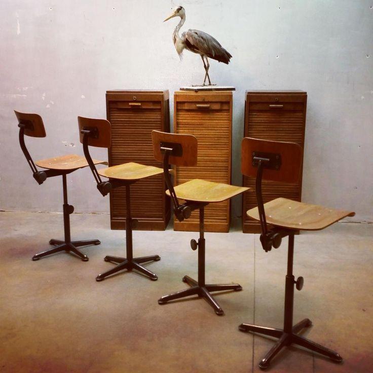 Industrial vintage design rules...#Friso Kramer bar stools www.bestwelhip.nl