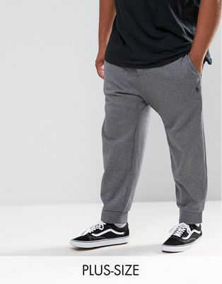 Polo Ralph Lauren Big & Tall Joggers with Cuffed Hem in Grey