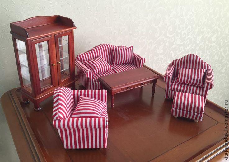 Купить Мебель1:12 для гостиной - для кукол, для куклы, аксессуары для кукол, кукольная миниатюра, мебель для кукол