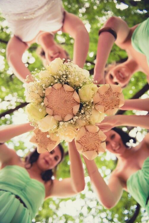 Pink Flower Bridal Party