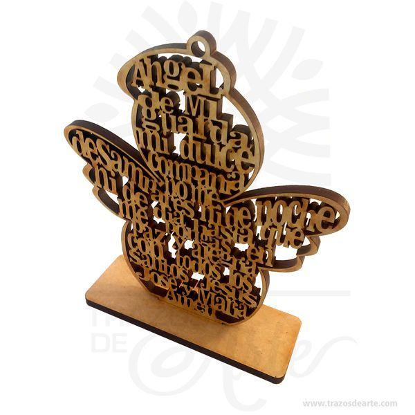 Hermoso ángel de mi guardaen MDF de 6 mm, cortado con láser.Este es un maravilloso regalo, suvenir; empresarial o para amigos y familiares. Unángeles un sersobrenatural, inmaterial o espiritual presente en algunasreligionescuyos deberes son asistir y servir aDios. Los ángeles son a menudo representados como mensajeros de Dios en la Biblia hebrea, Biblias cristianas y el Corán. Según las tres principales religionesmonoteístas, los ángeles ejecutan los juicios de Dios y sirven a los…