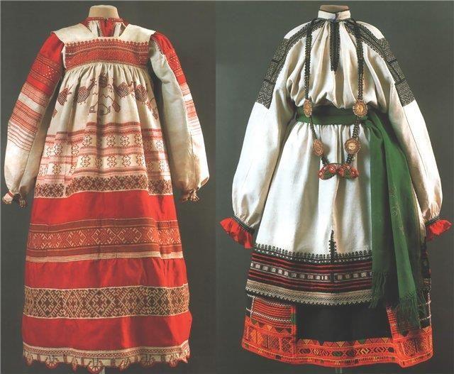 Передник русского национального женского костюма 19 века