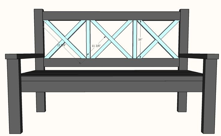 Build a Large Porch Bench - Alaska Lake Cabin | Free and Easy DIY Project and Furniture Plans