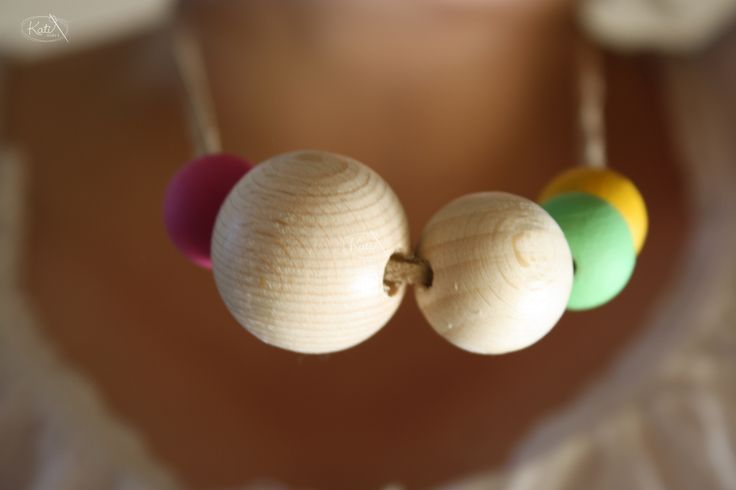 Halskette Holzperlen