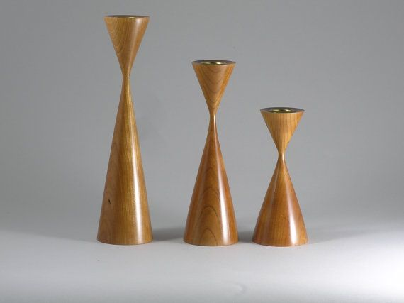 Modern candle holders in a scandanavian style.