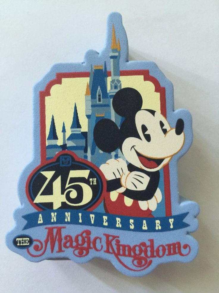 Disney Parks 45th Anniversary Magic Kingdom Mickey Antenna Pencil Topper New