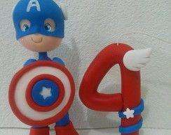 Vela Biscuit Capitão América