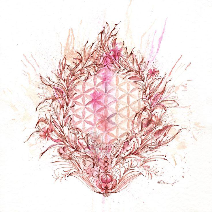 Die Blume des Lebens, Kunstdruck, Lebensblume