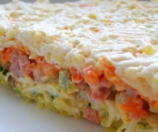 Один из моих любимых салатов — Слоеный салат с грибами http://bigl1fe.ru/2017/10/08/odin-iz-moih-lyubimyh-salatov-sloenyj-salat-s-gribami/