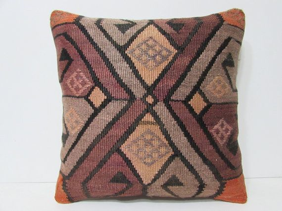 20x20 hellenistic kilim pillow wool rug pilow striped pillow cover western decor striped throw pillow bohemian cushion boho bedroom 26215