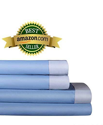 Auraa Comfort 500 Thread Count 100 Long Staple Cotton Sheet Set Reversible Queen Sheets 4 Piece Setsoft Smooth Sa Weaveupto 16 Deep Pocketluxury