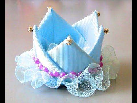 Coroa de Princesa de fitas Passo a Passo D.I.Y. Princess crown ribbons - YouTube