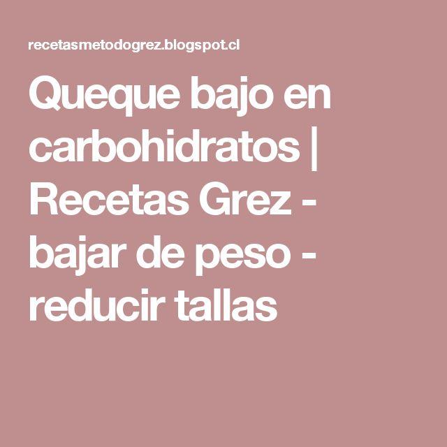 Queque bajo en carbohidratos                    Recetas Grez - bajar de peso - reducir tallas