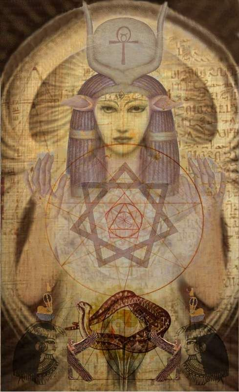 Hathor, the Goddess of all acts of love and pleasure and beauty