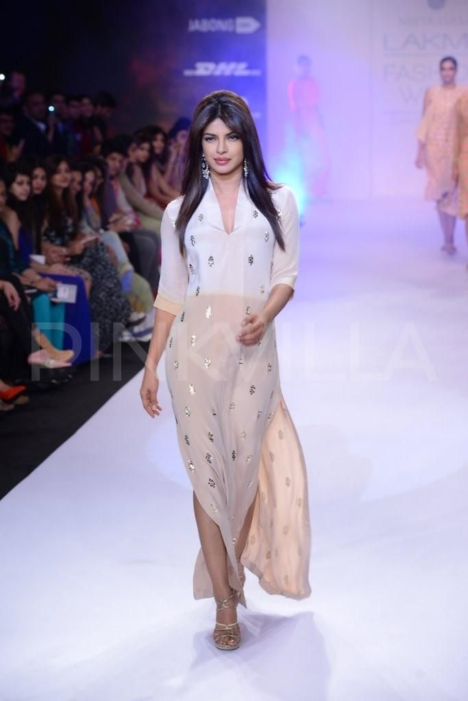 Priyanka Chopra walks for Neeta Lulla at LFW 2014 | PINKVILLA