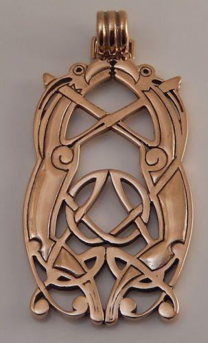 VIKING Animal Art Pendant Bronze 10th C JELLINGE Style Norse VIKING Knotwork