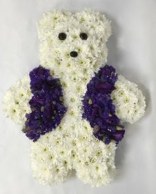 LOCAL White Teddy with Waistcoat hand delivered in Manchester , salford , Eccles , Worsley , Monton, Irlam , Cadishead