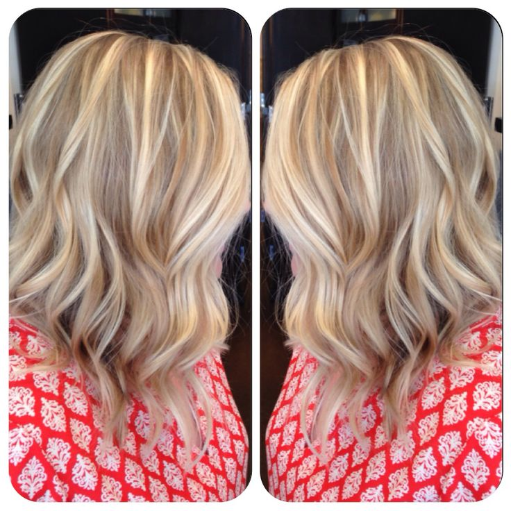 Blonde Balyage Long inverted bob.