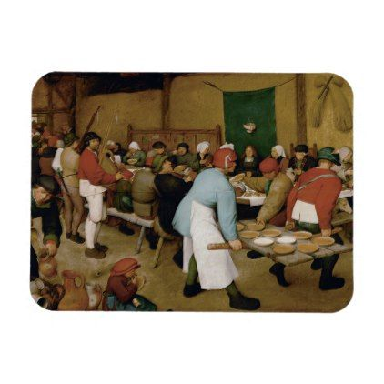 Pieter Bruegel the Elder – Peasant Wedding Magnet | Zazzle.com