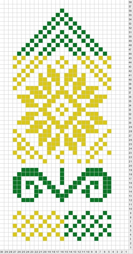 цветок mitten pattern