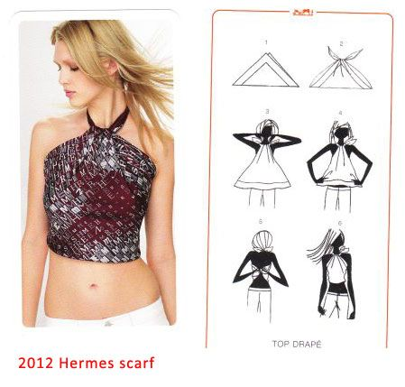 Silk Scarf top - need to do this before summers over !
