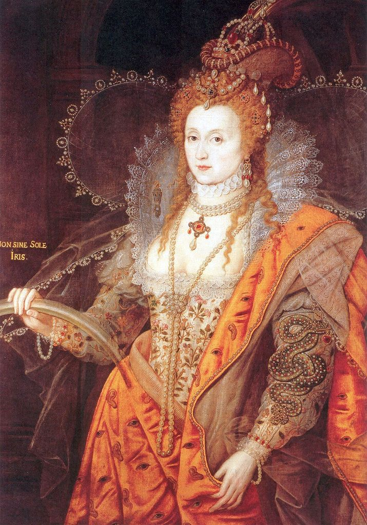 Elizabeth I  1533-1603  Elizabeth I was queen of England during a period when England asserted itself vigorously as a major European power in politics, commerce, and the arts.  The adulation bestowed upon her was the result of a brilliantly executed campaign in which the queen fashioned herself as the glittering symbol of the nation's destiny.  However, the queen was by no means a mere figurehead.  She upheld her authority to make decisions and to set the policies of both state and church.
