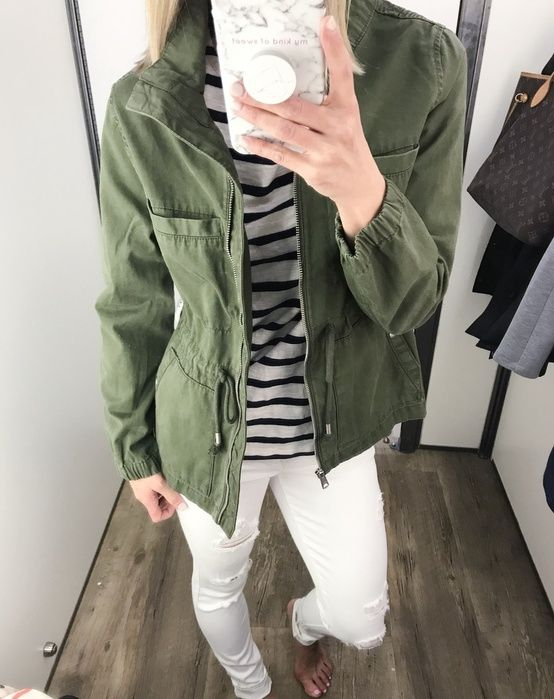 Shop the Look from mykindofsweet - ShopStyle | army jacket | spring style | old navy try on session | dressing room diaries | casual style #style #fashion (Affiliated)
