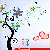 stilfuld blomst væg sticker (0732-XM-jj-014) – DKK kr. 79