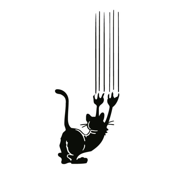 wall tattoo cat scratching the wall #animal #silhouette #digistamp
