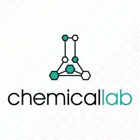 Laboratory Logo Design of a lab bottle made as a chemical formula For Sale On StockLogos | Chemical Lab logo