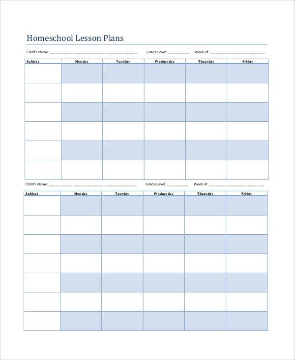 8 Printable Lesson Plan Templates Printable Lesson Plans