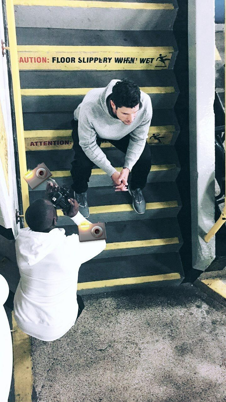 Sidney Crosby bts for Adidas Hockey