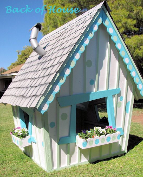 25 best ideas about kids outdoor playhouses on pinterest kids house garden february 2016 and. Black Bedroom Furniture Sets. Home Design Ideas