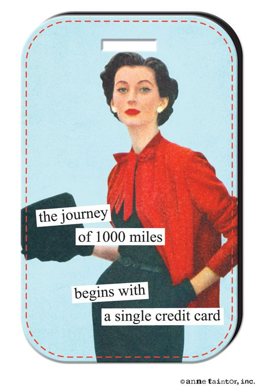 the journey of 1000 miles begins with a single credit card