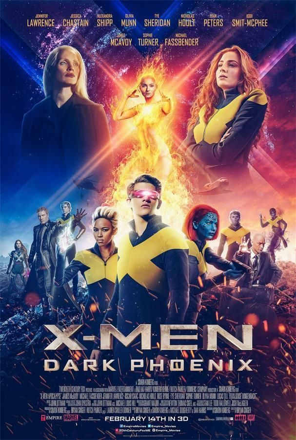 X-MEN DARK PHOENIX MARVEL POSTER A4 A3 A2 A1 CINEMA MOVIE LARGE