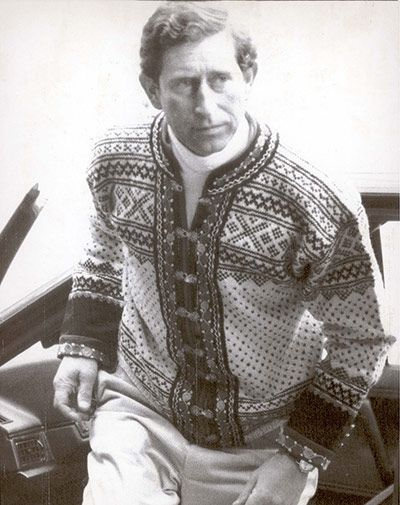 Prince Charles in Setesdal sweater