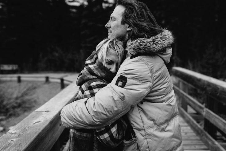 In each other's arms. Taken near to Kananaskis, Rocky Mountains, Canada. Photo by Benjamin Stuart Photography #weddingphotography #rockies #canada #love #engagementshoot #soontobemrandmrs