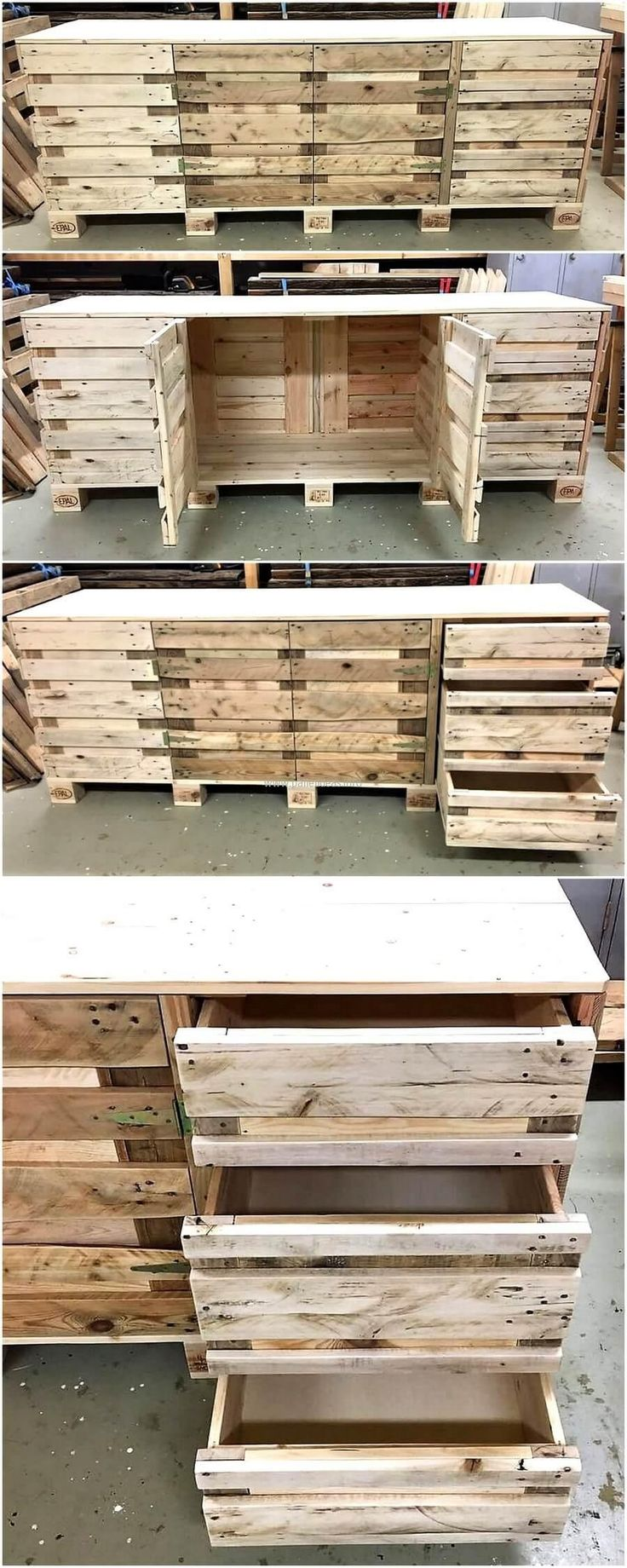 repurposed wood pallets kitchen counter table proyectos e ideas pinterest librer as. Black Bedroom Furniture Sets. Home Design Ideas