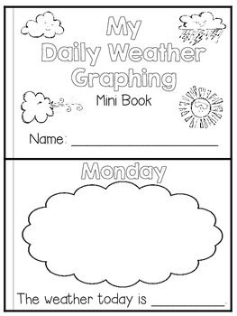 Flying into First Grade: Weather book freebie
